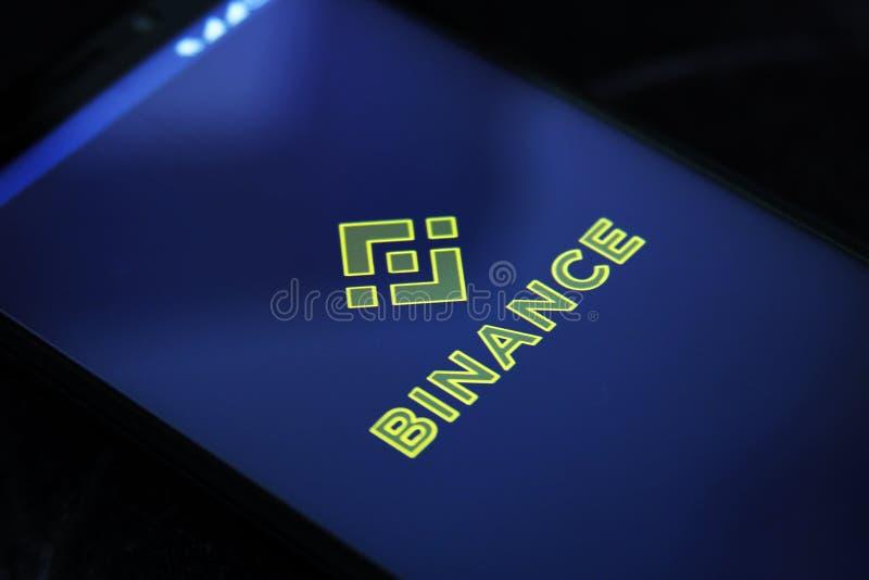 Binance cryptocurrency交换 库存图片