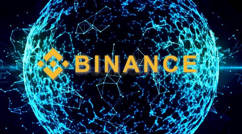 Binance es un mercado de intercambio de las finanzas Concepto Crypto del fondo de la moneda stock de ilustración
