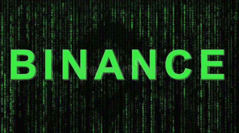 Binance es un mercado de intercambio de las finanzas Concepto Crypto del fondo de la moneda imagenes de archivo