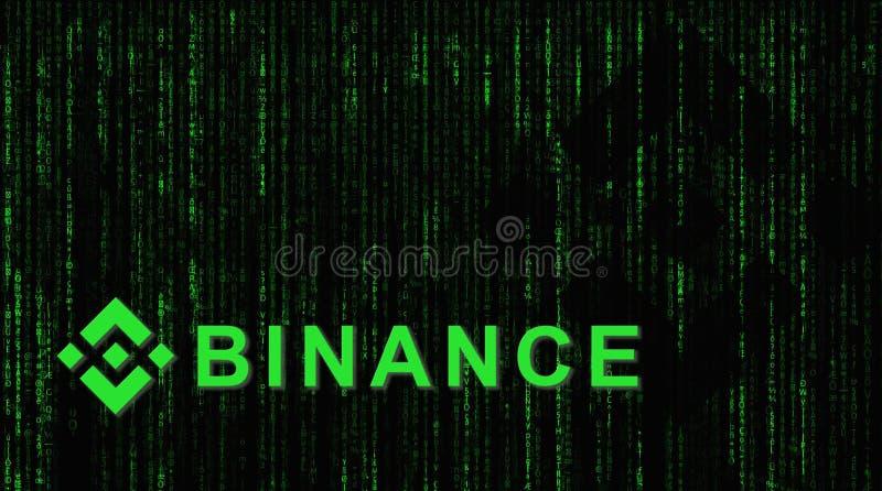 Binance es un mercado de intercambio de las finanzas Concepto Crypto del fondo de la moneda imagen de archivo