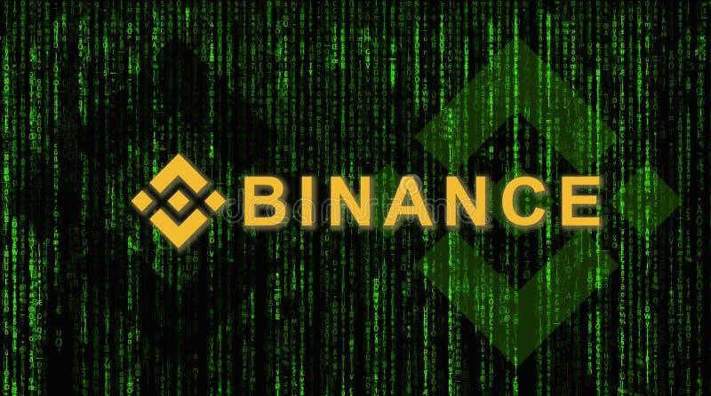 Binance jest finansowym wekslowym rynkiem Crypto waluty tła pojęcie zdjęcia royalty free