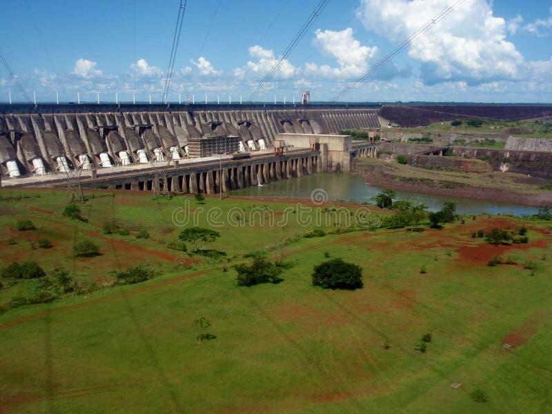 Binancional Itaipu, ГЭС, Бразили-Парагвай стоковое изображение