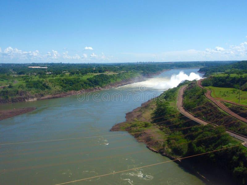 Binancional Itaipu, ГЭС, Бразили-Парагвай стоковые изображения rf