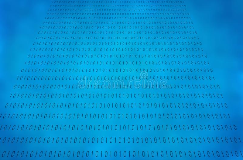Binar nummer på en blå himmel arkivfoton