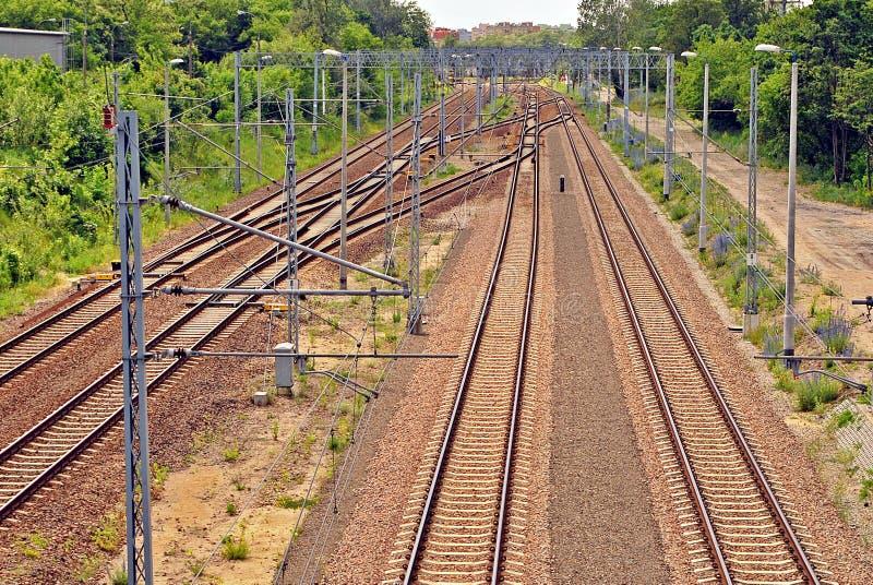 Binari ferroviari immagini stock libere da diritti