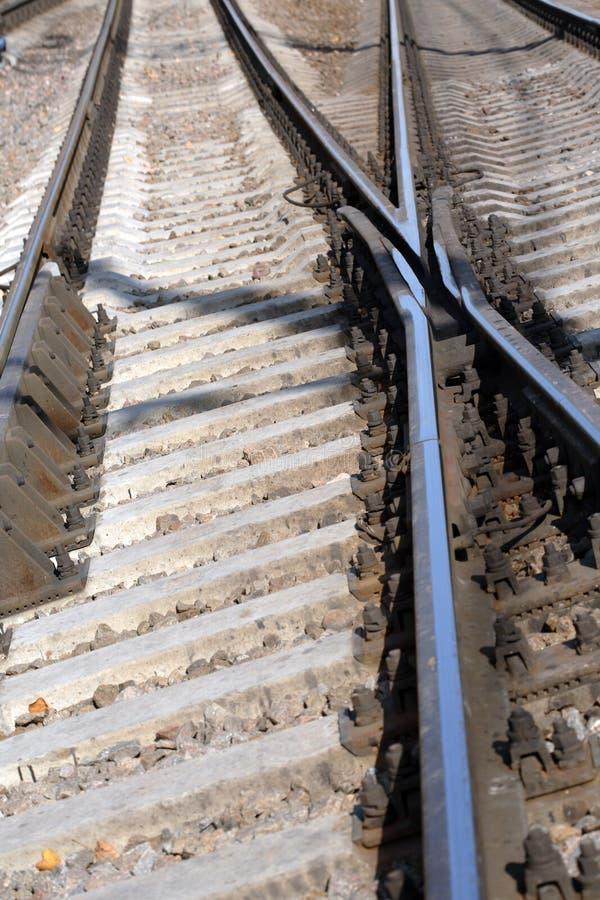 Binario ferroviario immagini stock