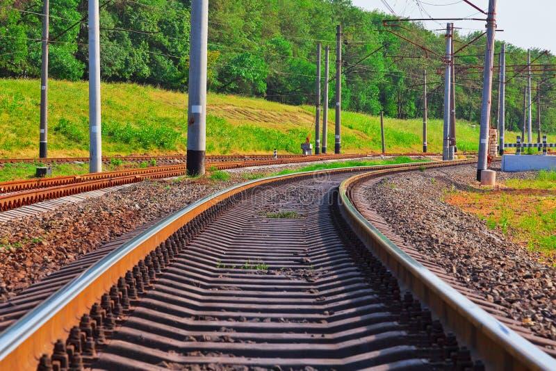 Binario ferroviario immagine stock