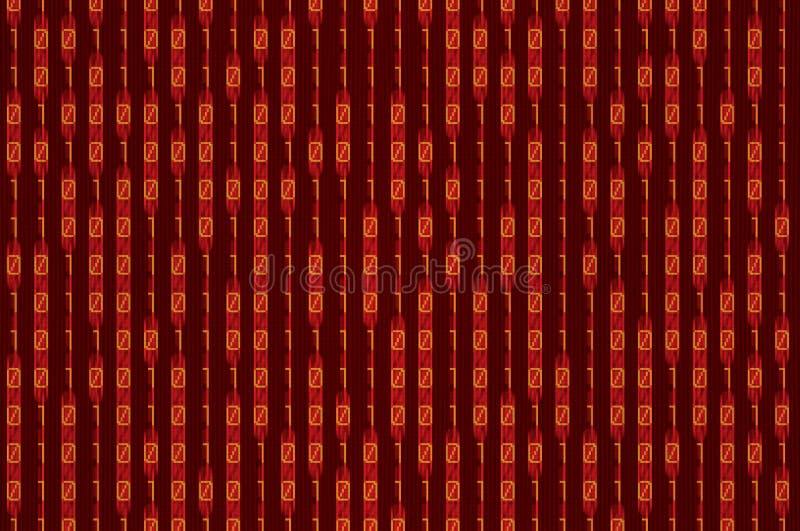 Binario rojo fotografía de archivo libre de regalías