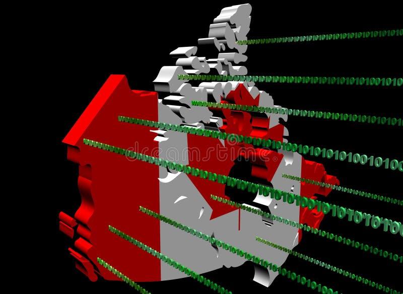 binarna Canada kodu flaga mapa royalty ilustracja