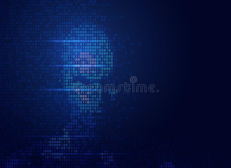 binarna twarz ilustracja wektor