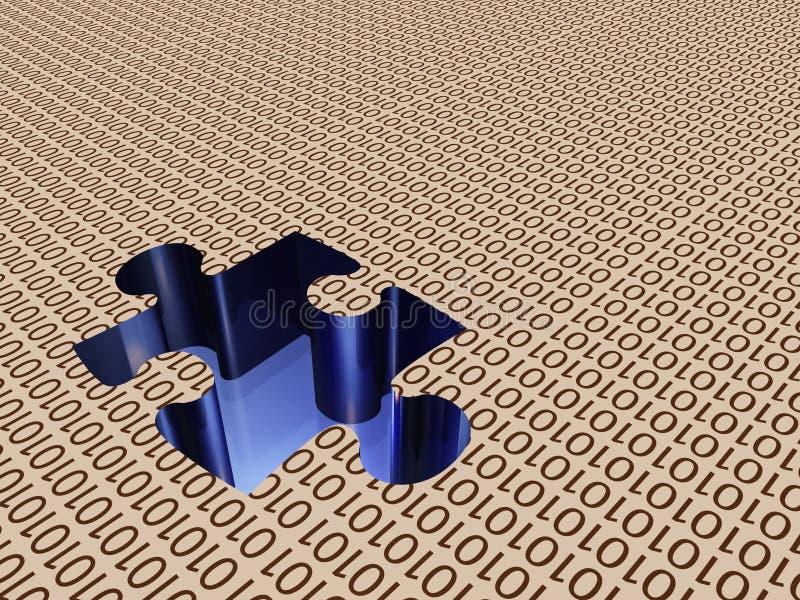 binarna układanki ilustracji