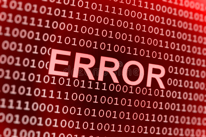binarnego kodu błąd obrazy royalty free
