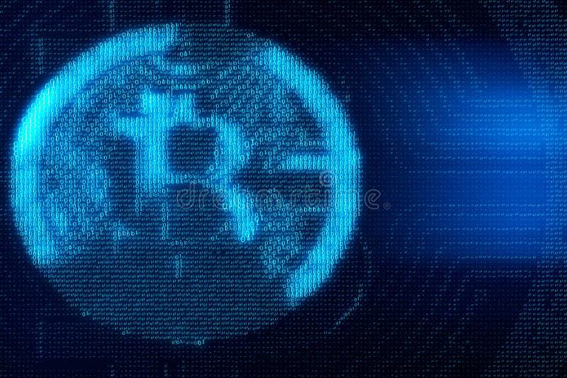 Binarnego kodu bitcoin tło ilustracji