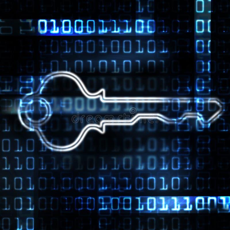 binarnego kodu klucza ochrona royalty ilustracja