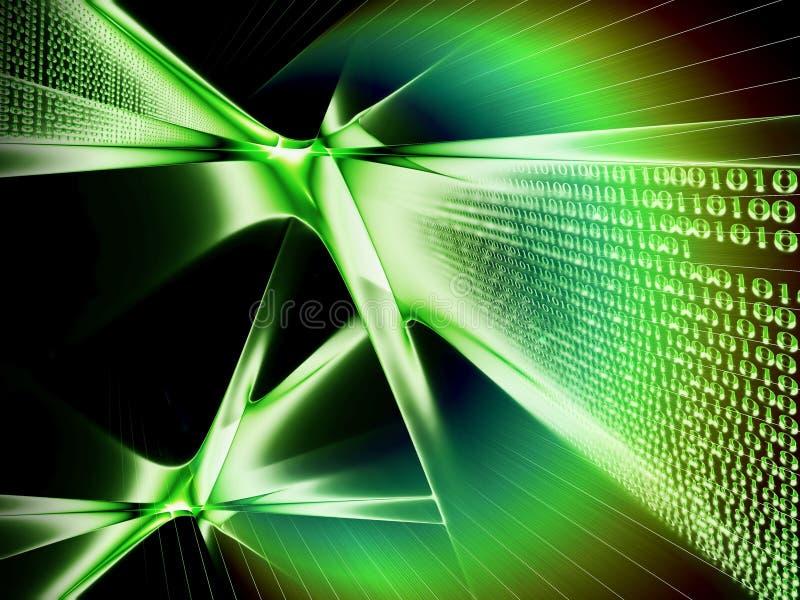 binarnego kodu komunikacyjny dane przepływ ilustracja wektor