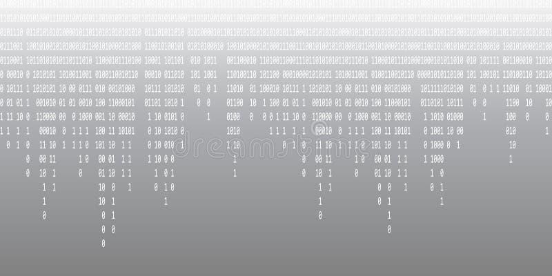 Binarnego kodu spada szary t?o royalty ilustracja
