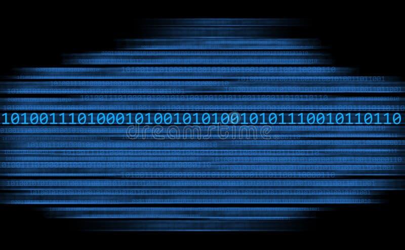 binarnego kodu strumień ilustracja wektor