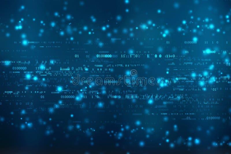 Binarnego kodu tło, Cyfrowej technologii Abstrakcjonistyczny tło royalty ilustracja