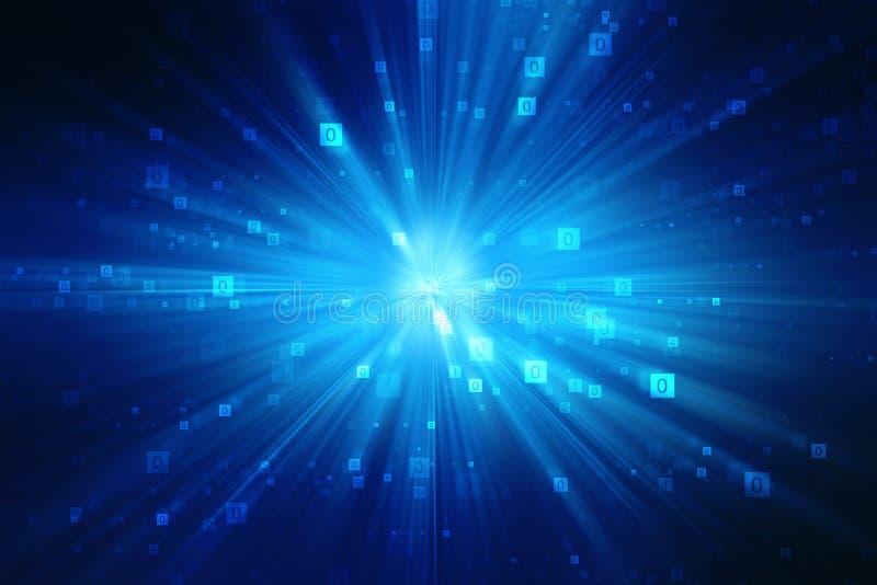 Binarnego kodu tło, Cyfrowej technologii Abstrakcjonistyczny tło, Najlepszy Internetowy pojęcie globalny biznes ilustracji
