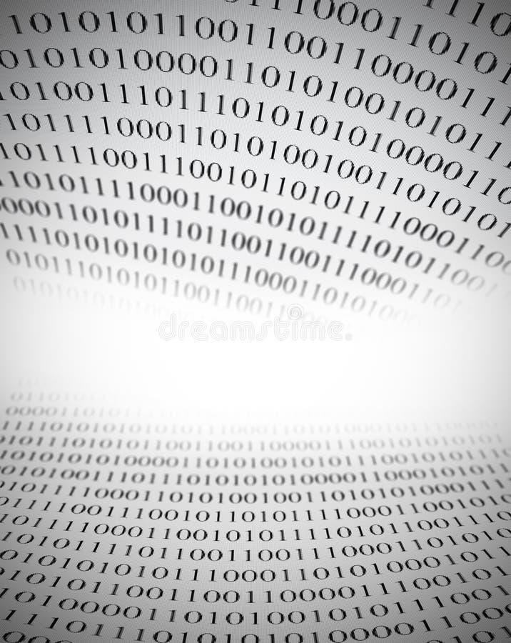 Binarnego kodu tło z kopii przestrzenią ilustracja wektor