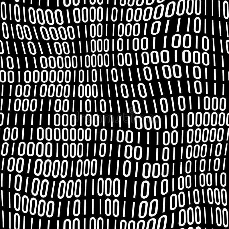binarnego kodu wzór ilustracja wektor