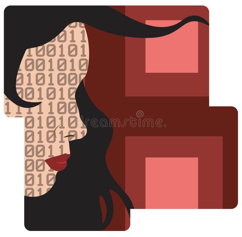 binarny ilustracja wektor