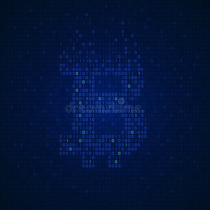 Binarny bitcoin royalty ilustracja