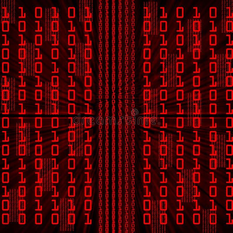 binarny kod ilustracji