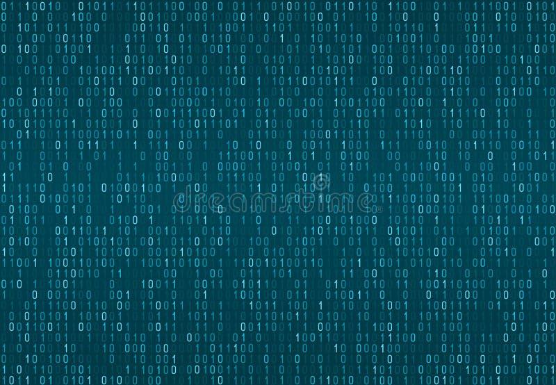 Binarny komputerowego kodu bezszwowy wzór ilustracja wektor