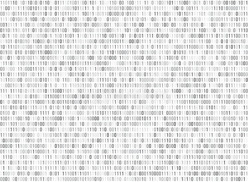 Binarny matrycowy komputerowy dane kodu wektorowy bezszwowy tło ilustracja wektor
