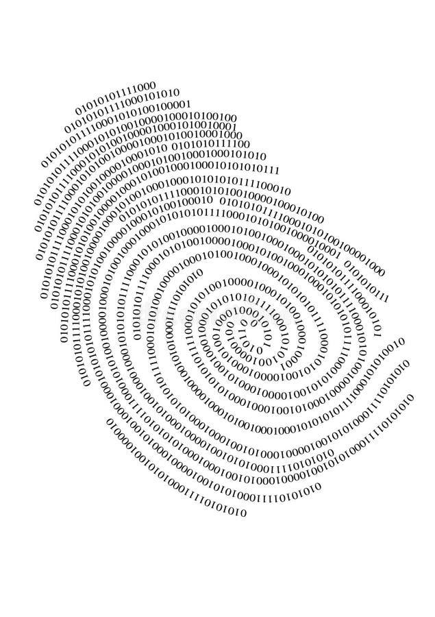 binarny odcisk palca royalty ilustracja