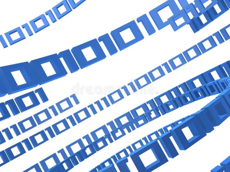 Binary 3d vector illustration