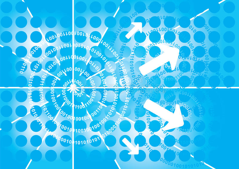 Binary background vector illustration