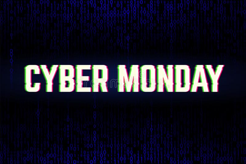 Binary background for the Cyber Monday Sale royalty free illustration