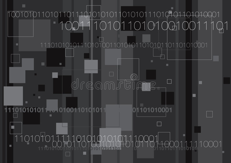 Binary And Boxes stock illustration