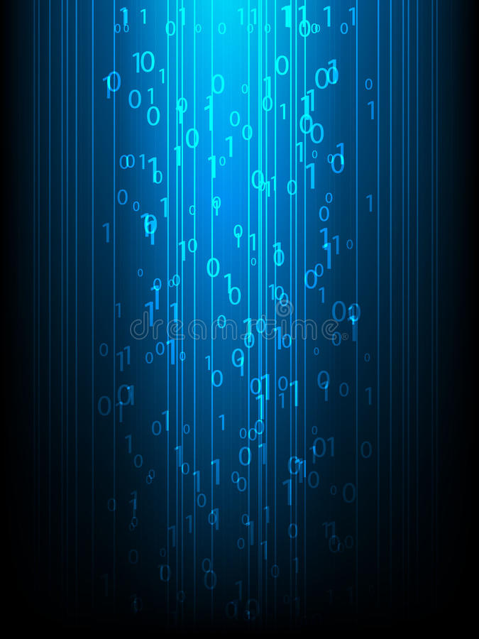 Download Binary code stock vector. Image of graphics, display - 21086686