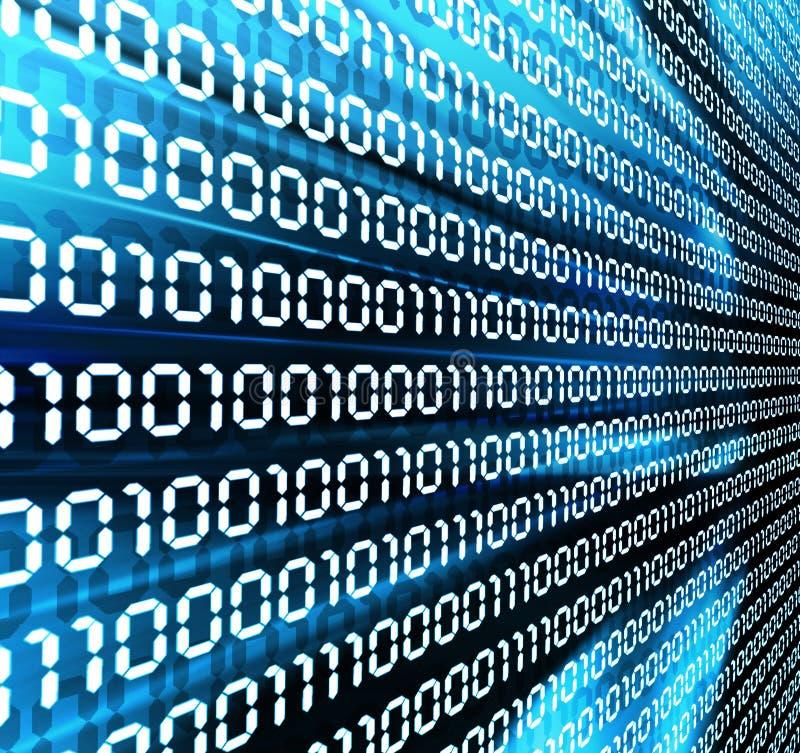 Binary code. Wall of binary code on abstract background