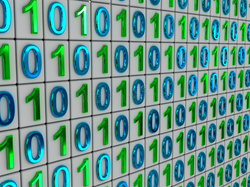 Binary code. Three-dimensional graphic image. binary code. 3d stock photo