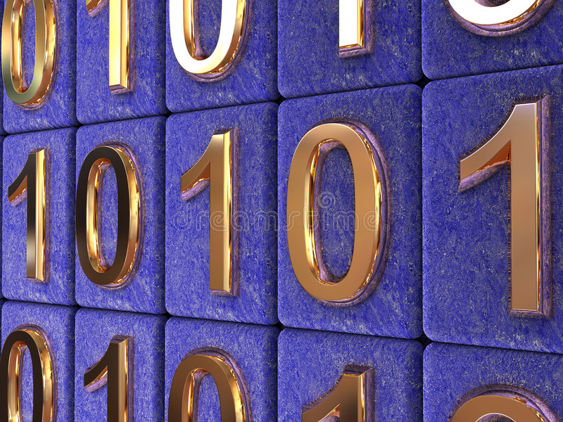 Binary code. stock images