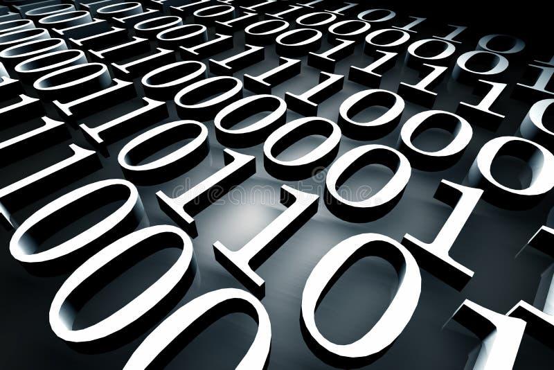 Binary code stock illustration