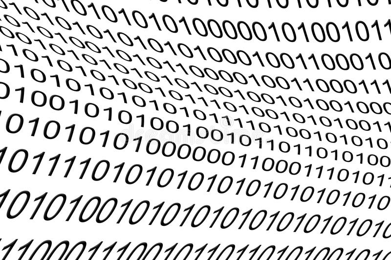 Binary Code as background stock photo