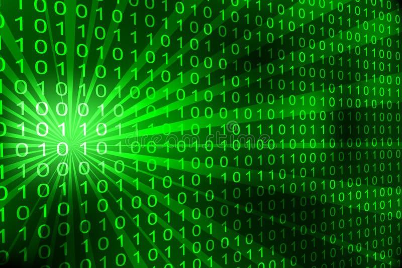 Binary code background stock illustration