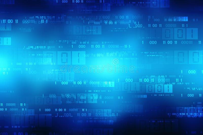 Binary Code Background, Digital Abstract technology background stock photos