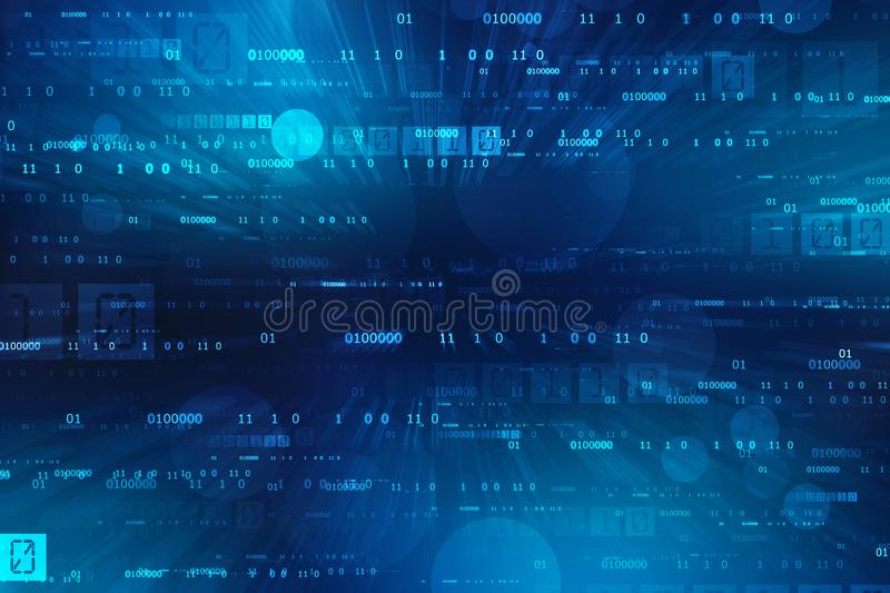 Binary Code Background, Digital Abstract technology background royalty free illustration