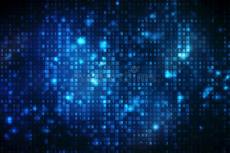 Binary Code Background, Digital Abstract technology background, Cyber abstract background stock illustration