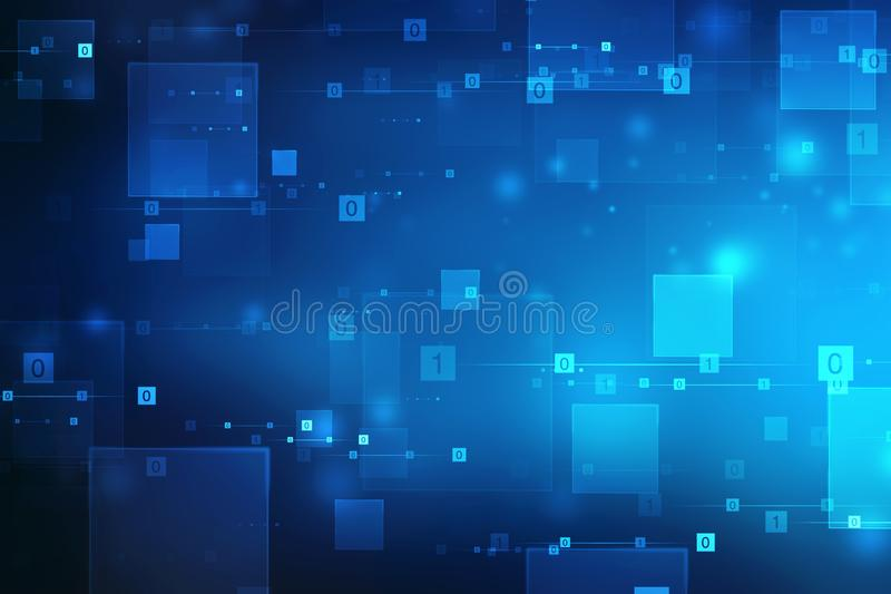 Binary Code Background, Digital Abstract technology background vector illustration