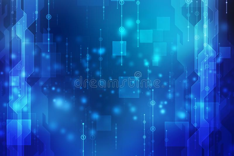 Binary Code Background, Digital Abstract technology background royalty free stock image