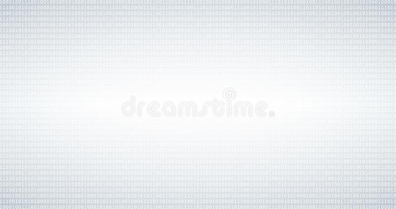 Binary code black and white background with digits on screen. Format 16:9 stock photos