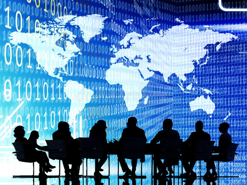 Binary Code Cartograpgy Business People Concept royalty free stock images