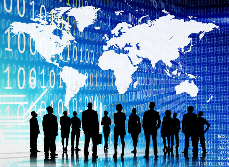 Binary Code Cartography Business People Concept stock photos